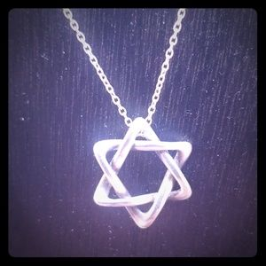 Tiffany & Co star of david pendant and chain